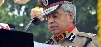 DELHI POLICE COMMISSIONER B S BASSI DURING Commemoration Day Parade AT POLICE LINE KINGSWAY CAMP IN NEW DELHIT