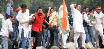 IYC organized a massive protest at Jantar Mantar to Parliament over the growing intolerance in society