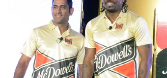 MS DHONI AND CHRIS GAYLE CELEBRATE 'YAARI' WITH MCDOWELL`S NO.1 SODA