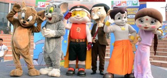 """Performances Pogo Satr of the famous Toon Characters in """"POGO SPACE STATION"""" by Mighty Raju, Chota Bheem, Chutki Tom & Jerry Mr. Bean."""