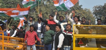 NSUI Activist held a Protest aganist of Bjp Government and Prime minister Narender Modi issue of JNU at HRD Ministery in Capital on Today