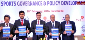 Mr C.K. Mahajan (Retired Chief Justice), Chairman, National Sports Code Committee and Mr Rajiv Yadav, Secretary, Department of Sports, Ministry of Youth Affairs & Sports releasing the ASSOCHAM-Ludus Legal study titled 'Good Governance in Sports' along with other dignitaries' at an ASSOCHAM  Discussion on Sports Governance & Policy Development held here in New Delhi today.