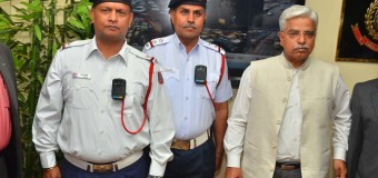 Commissioner of Police  Delhi B S Bassi  launched  the  three initiatives  at PHQ Conference Hall in New Delhi today  : (i) Body worn cameras, (ii) Live feed to Control Room of 5 crossings (iii) Vehicle mounted cameras in Traffic Inspectors vehicles