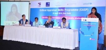 First Critical Appraisal Skills Programme in Public Health Journalism by UNICEF, IIMC, University of Oxford, GIGH and Thomson Reuters Foundation