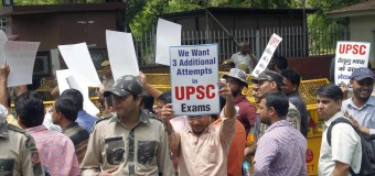 The UPSC Activits Held Protest, Demand of 3 additional attempt in Exam  Near UPSC Head HQ at New Delhi on Tuesday