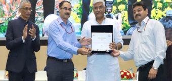 Shri Ajya Prakash Swahny Secretary meitY and Shri Sanjay Goel Joint Secretary, MeitY received the award on behalf of MeitY
