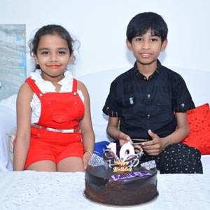 Alisha with Nishchay Birthday cerebration